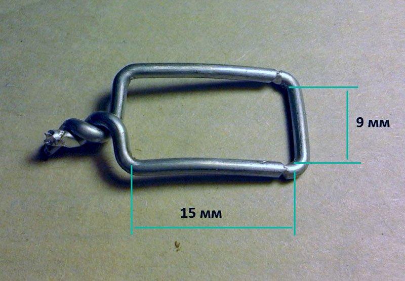 самодельный зажим из алюминиевой проволоки
