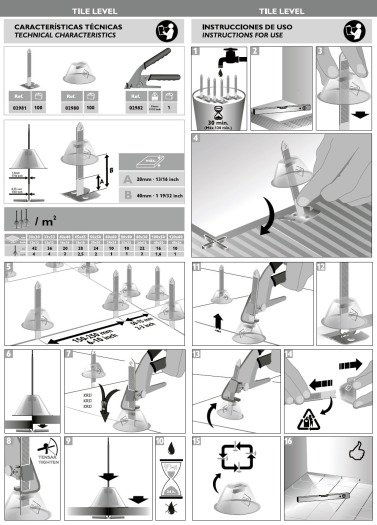 Инструкция Rubi Tile Level