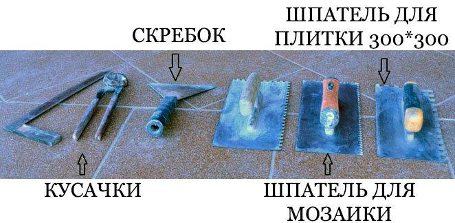 основные инструменты плиточника