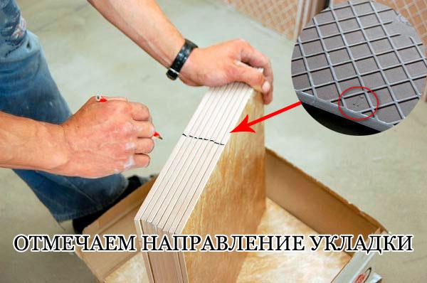 Укладка плитки на кухне на пол