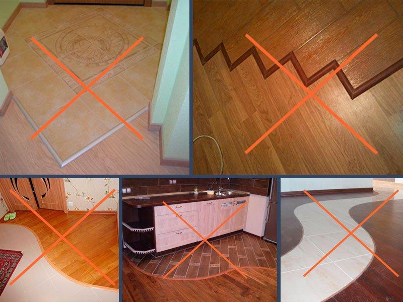 Как сделать плитку без порожка