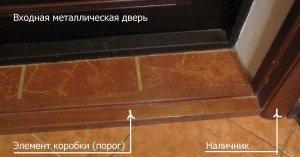 Стыковочный порог для ламината и плитки