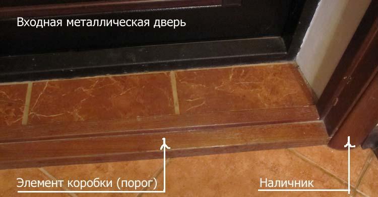 Как сделать порог входной двери своими руками