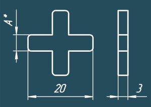 размеры крестика