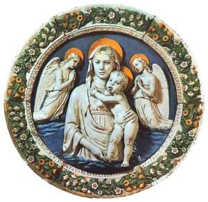 Мадонна с младенцем. Лука делла Роббиа, 1455 год.