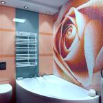 Керамическое панно для ванной из мозаики
