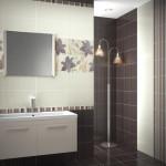 Керамическая плитка в ванную с полосками Aranda Summer (Испания) — 1200 р/м².