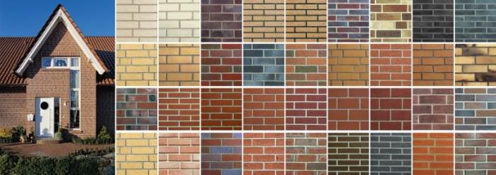 Разнообразие фасадного клинкера.