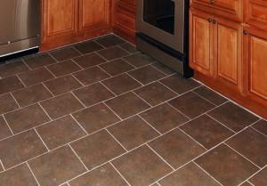 Раскладка со смещением позволяет легко скрыть неровности геометрии плитки.