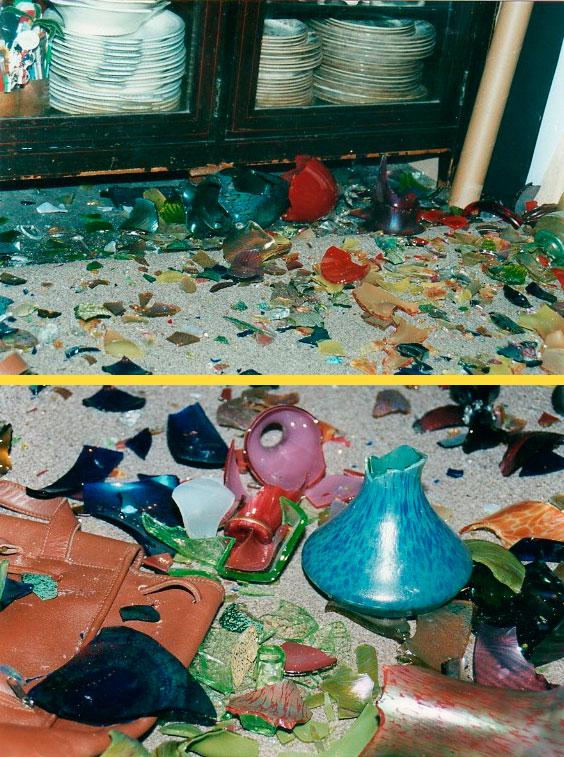 В ход идёт всё: битые тарелки, вазы, старая плитка, красивые камни