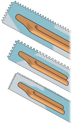 размер зубчатого шпателя