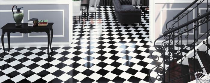 Испанская коллекция APE Super включает в себя только 2 элемента: чёрную и белую плитку 27х27 см с волнистыми краями. Такой дизайн подойдёт для пола в ванной, кухне или гостиной в современном стиле или хай-тек.
