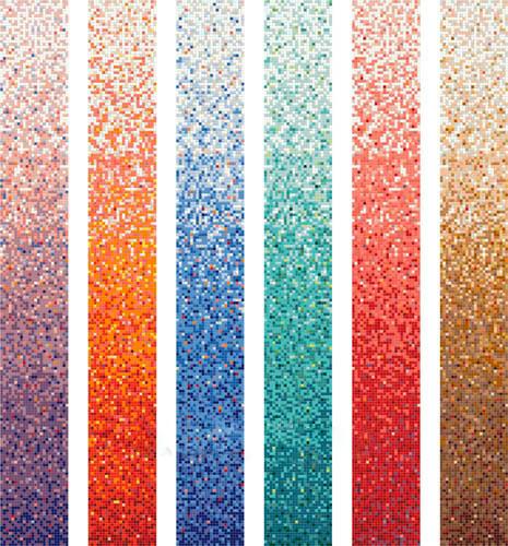 В моде градиентная «техника» облицовки – укладывая мозаику с лёгкими тональными переходами, получают эффектную, растянутую в цветовом спектре, мозаичную укладку. Градиент – удачное решение для небольших помещений, поскольку визуально увеличивает пространство. При этом композиция представляет собой всего лишь цветное сочетание однотонных квадратов, ну а они-то куда доступнее замысловатых декоров.