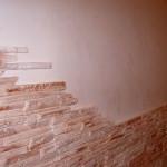 Итоговый вид на стене. Узкие полозки сделаны из широких с помощью ножа.