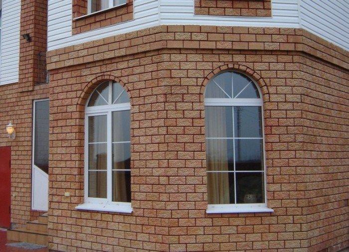 Плитка Терракот на фасаде.
